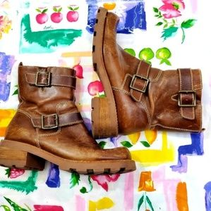 Bakers Vintage (90s) Brown Chunky buckle boots